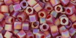 TC-8-165CF - Toho Cubes 8/0, 3mm, Tranparent Frosted Ruby